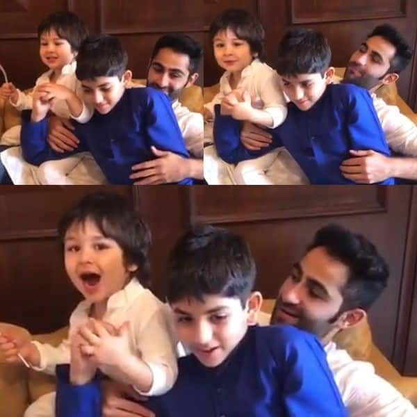 Image result for latest images of Watch: Taimur Ali Khan's bicycle crunches with uncle Armaan Jain is the cutest thing you will see today